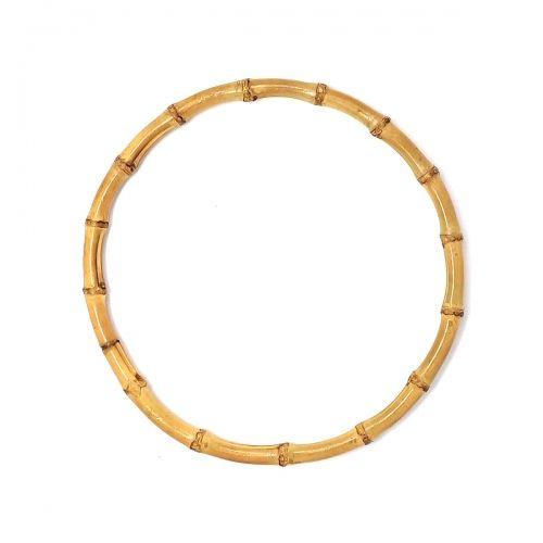Manici a Cerchio per borse in Bamboo Chiaro - 22 cm, 2 Manici