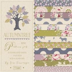 """Tilda Mini Pattern Pad """"Autumntree"""" 24 fogli doppi"""