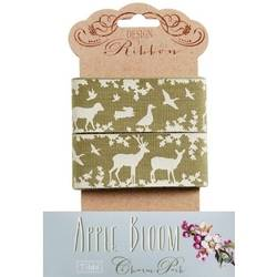 Tilda ribbon 45 mm Jean Olive Apple Bloom