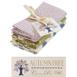 "Tilda Fat Quarter Bundle ""Autumntree"" extras 3 pz"