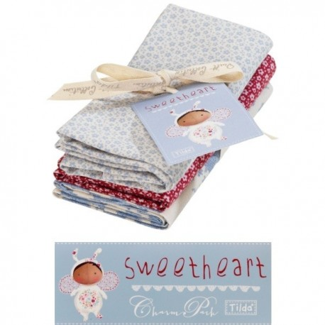 Tilda Fat Quarter Bundle Sweetheart extras 3 pz