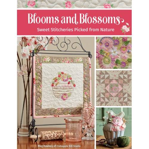 Blooms and Blossoms - Sweet Stitcheries Picked from Nature by Meg Hawkey