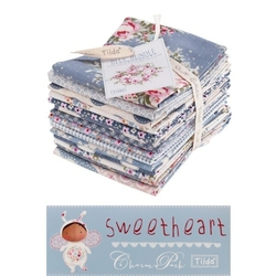 "Tilda Fat Eight Blue Bundle 14 pz ""Sweetheart"""