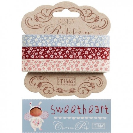 Tilda ribbon set 10 mm Sweetheart 3pz