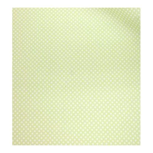 Lecien Color Basic, tessuto verde e pois bianchi