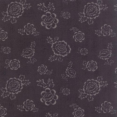 Moda Fabrics Black Tie Affair, Tessuto Nero con Fiori Chiari