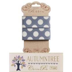 "Tilda ribbon 30 mm Sewn spot Blue ""Autumntree"""