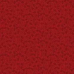 Wilmington Prints Essentials, Tessuto Rosso con Foglie Rosso Scuro