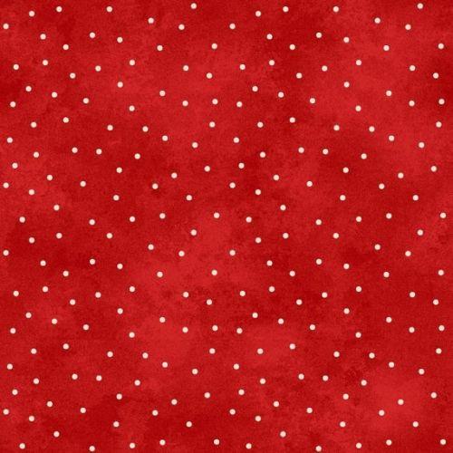 Maywood Studio, Santa Claus , Tessuto Rosso Sfumato con Pois Bianchi