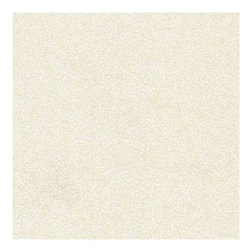 Basic Palette, Tessuto Crema con Foglie Bianchi