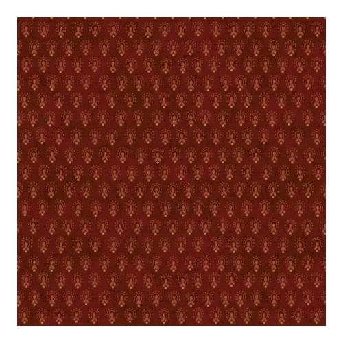 Henry Glass Idaho Prairie Star by Kim Diehl Collection, Tessuto Rosso Scuro con Decorazione a Pois