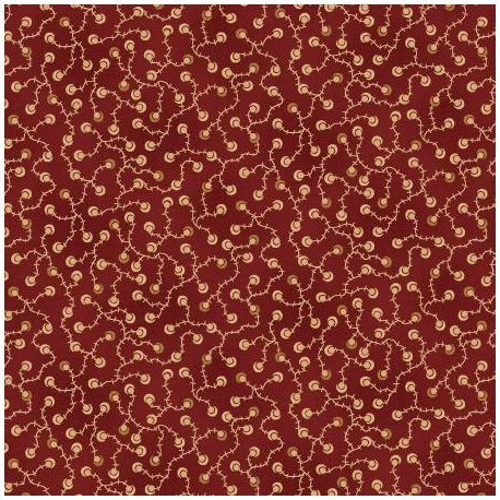 Henry Glass Idaho Prairie Star by Kim Diehl Collection, Tessuto Rosso Scuro con Vigna