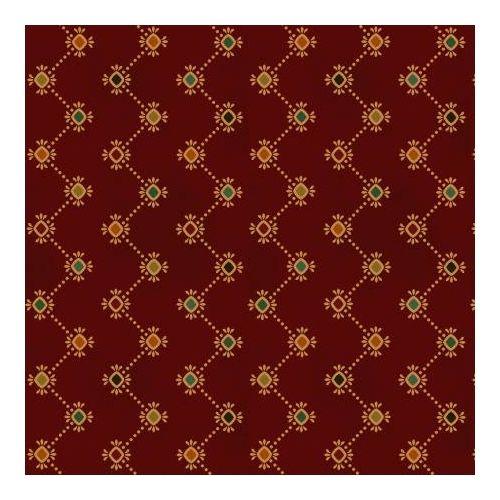 Henry Glass Idaho Prairie Star by Kim Diehl Collection, Tessuto Rosso Scuro con Diamanti Colorati