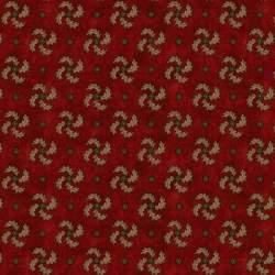 Henry Glass Idaho Prairie Star by Kim Diehl Collection, Tessuto Rosso con Girandole