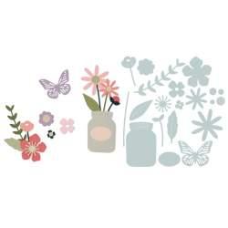 Thinlits Die Set 17PK Garden Florals by My Life Handmade