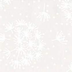 Basic Palette, Tessuto Bianco con Soffioni Tono su Tono