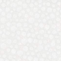 Basic Palette, Tessuto Bianco con Righe e Cerchi Tono su Tono