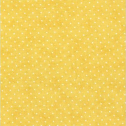 Moda Fabrics Essential Dots, Tessuto Fondo Giallo con Pois Bianchi
