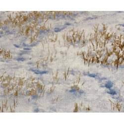 South Sea Import Winter Enchantment by Claire Goldrick, Tessuto Bianco con Paesaggio Invernale
