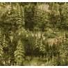 Moda Fabrics Modascapes by Moda Classic, Tessuto Verde con Foresta