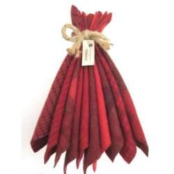 Lana Tinta a Mano 8 x 6.5 pollici, Rosso Pomodoro - Mary Flanagan Wool