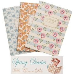 Tilda A5 Notebook 3pz Spring Diaries