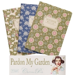 Tilda A6 Notebook 3pz Pardon my Garden