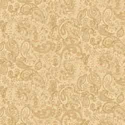 Henry Glass Butter Churn Basics by Kim Diehl, Tessuto Beige con Fiori Cachemire
