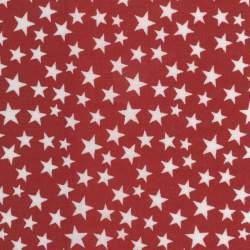 Red-White Patriotic Stars 108, Tessuto per Retro Quilt Rosso con Stelle