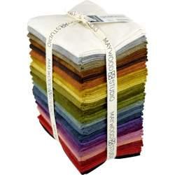 Maywood Studio Color Wash Woolies Flannel, 21 Fat Quarter 45 x 55 cm di Flanella