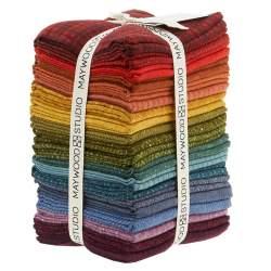 Maywood Studio Woolies Flannel Colors Vol. 2, 20 Fat Quarter 45 x 55 cm di Flanella