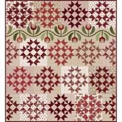 Kit Ruby Red Quilt by Bonnie Sullivan, Tessuti + Cartamodello