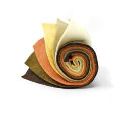 Rotolino di Feltro 1 mm, 6 pezzi 25 x 30 cm - Sushi Roll Zabaione e Cioccolato
