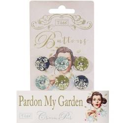 Tilda fabric buttons 17 mm, 6 pz Pardon my Gardens