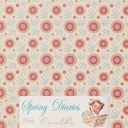 Tilda 110 Sunflower Dove White Spring Diaries