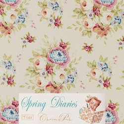 Tilda 110 Grden Flowers Dove White Spring Diaries