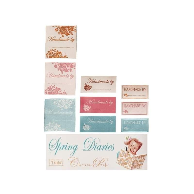 Tilda Quilt labels Spring Diaries (etichette) 8pz
