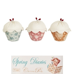 "Tilda kit Cute Cupcakes ""Spring Diaries"" 3pz"