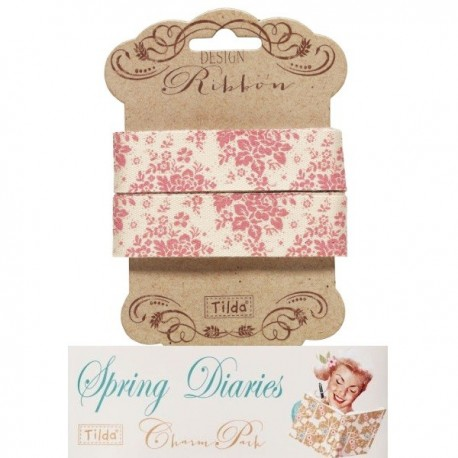 Tilda ribbon 20 mm Audrey Pink Spring Diaries