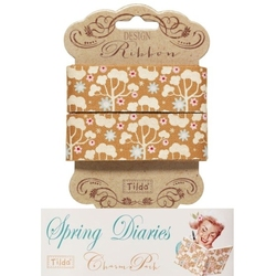 Tilda ribbon 25 mm Wild Garden Honey Yellow Spring Diaries