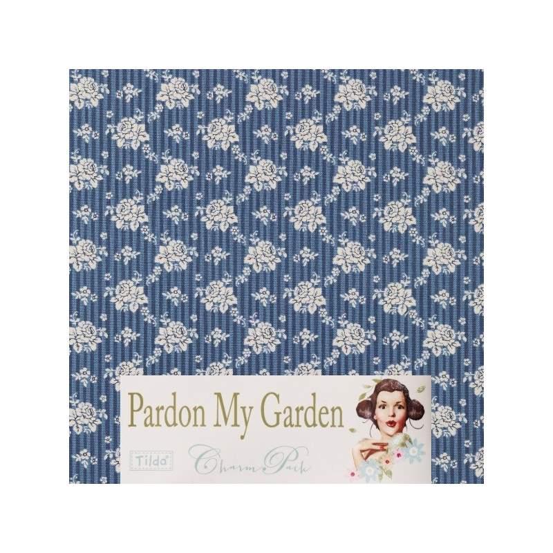 Tilda 110 Emily Dark Blue Pardon my Garden