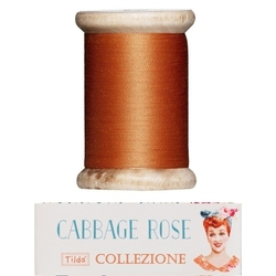 Tilda sewing thread 400 mt ginger orange Cabbage Rose