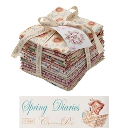 Tilda Fat Eight Pink Bundle 14 pz Spring Diaries