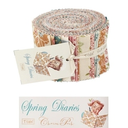 "Tilda Fabric Roll 24 pz ""Spring Diaries"""