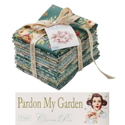 "Tilda Fat Eight Teal Bundle 14 pz ""Pardon my Garden"""