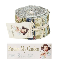 "Tilda Fabric Roll 24 pz ""Pardon my Garden"""