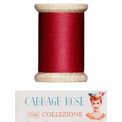 "Tilda sewing thread 400 mt red ""Cabbage Rose"""