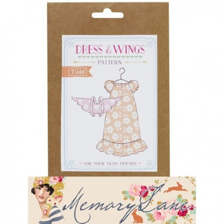 Tilda Friends pattern Dress & Wings Memory Lane