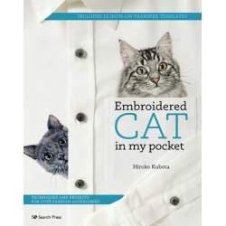 Embroidered Cat in My Pocket Manuale di ricamo per realizzare accessori alla moda