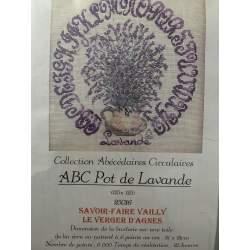 ABC Pot de Lavande, Kit Punto Croce